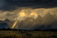 Lightning storm over the Teton Range. Grand Teton National Park. Jackson, Wyoming