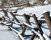 Ranch Fence in Winter