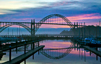 Yaquina Bay Bridge at Sunset, Oregon