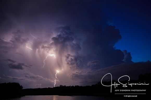 Evening thunderstorm, July, Clearwater, FL