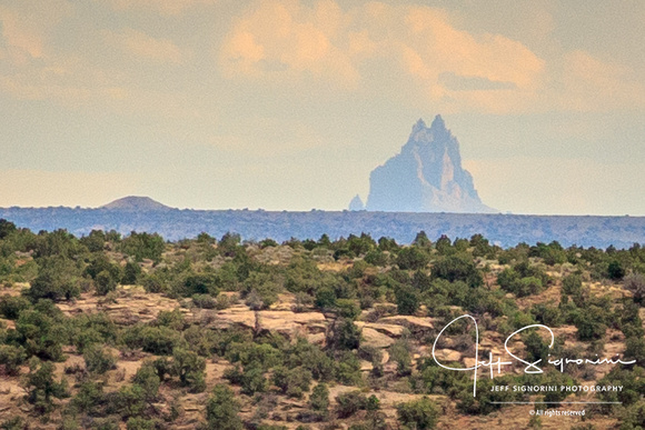 Zoomed crop of previous Shiprock (NM)  - 35 miles away