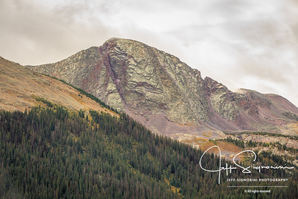 San Juan Mountains - On the road from Durango to Silverton