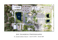 St. Jerome full grounds aerial view poster