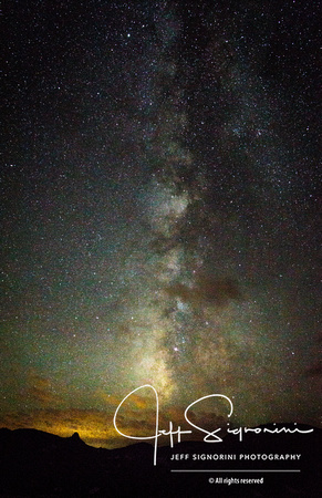 Milky Way star shot from Rocky Mountain National Park