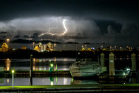 Thunderstorm over the Gulf of Mexico, from Clearwater Harbor. Clearwater, Florida. September 2014